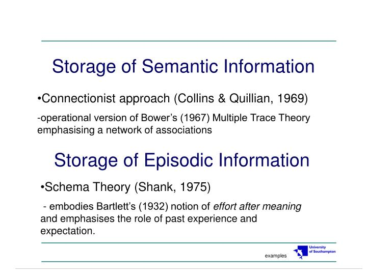 Storage of semantic information l.jpg