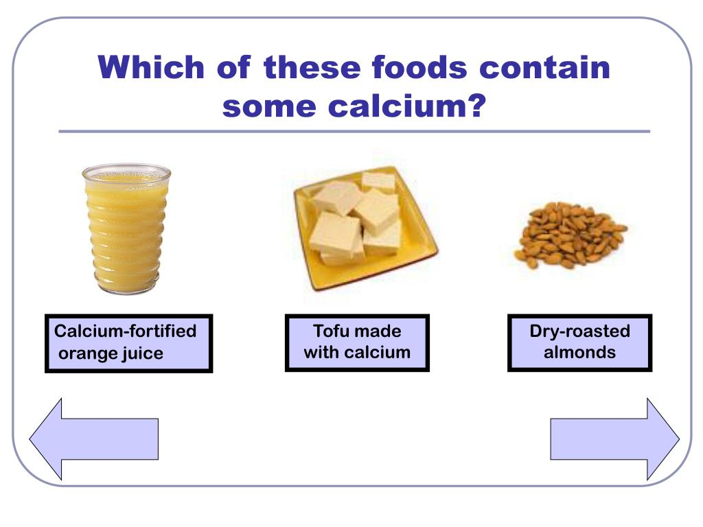Which of these foods contain some calcium?