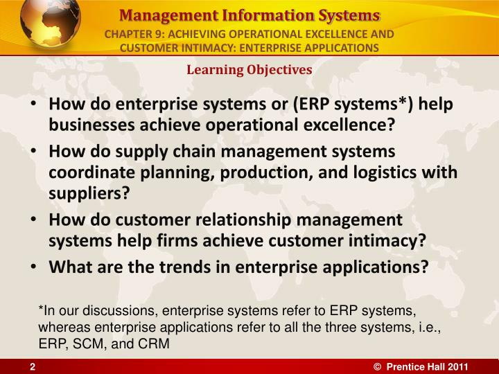 Chapter 9 achieving operational excellence and customer intimacy enterprise applications l.jpg