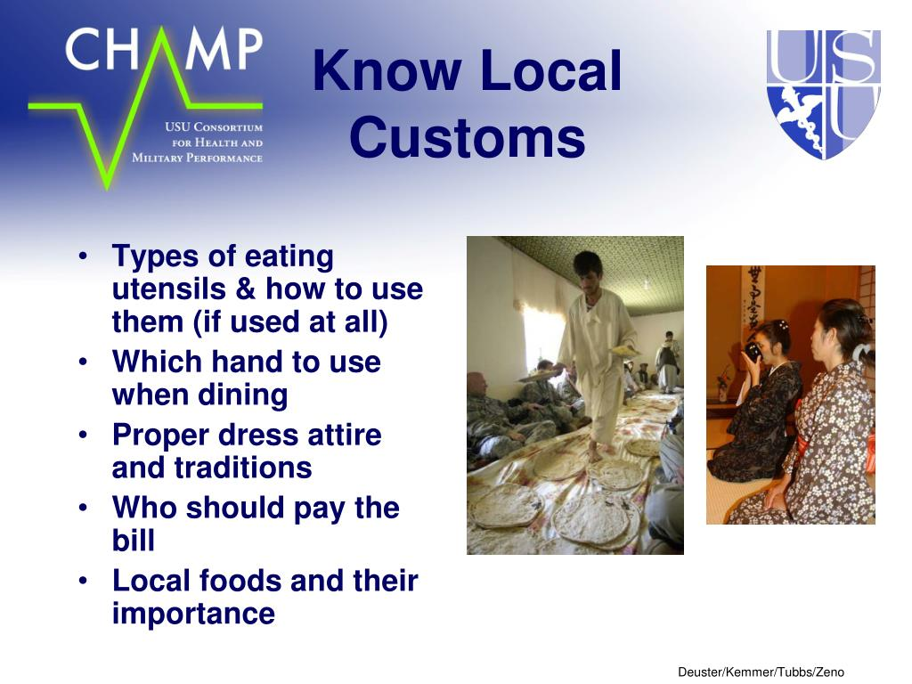 Know Local Customs
