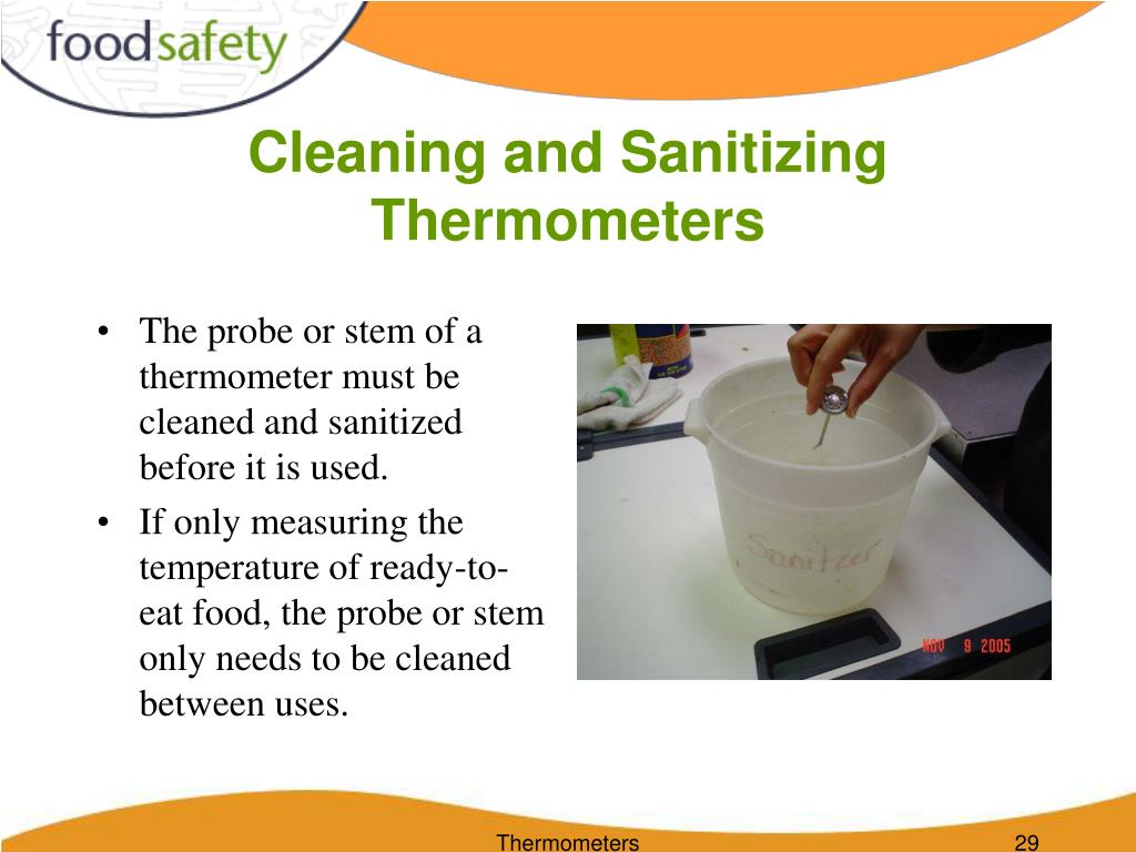 Cleaning and Sanitizing Thermometers