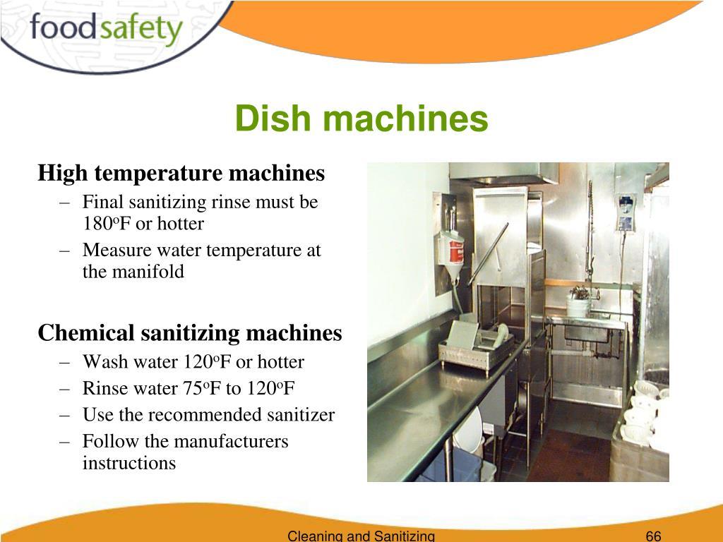 Dish machines