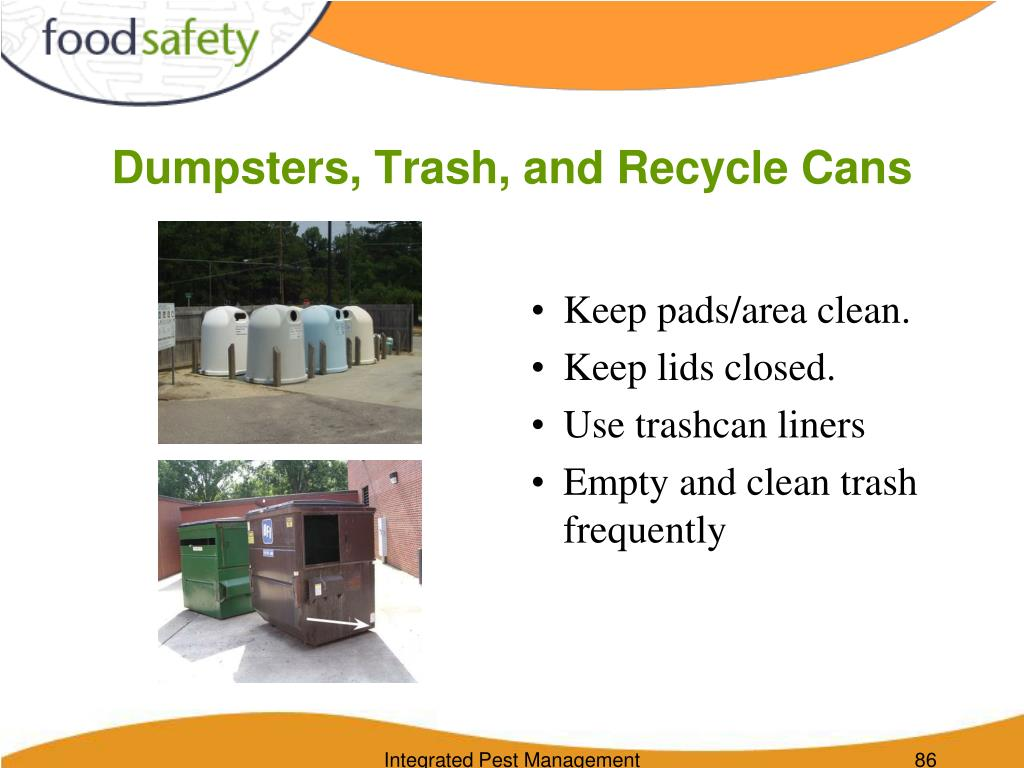 Dumpsters, Trash, and Recycle Cans