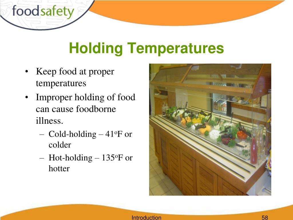 Holding Temperatures
