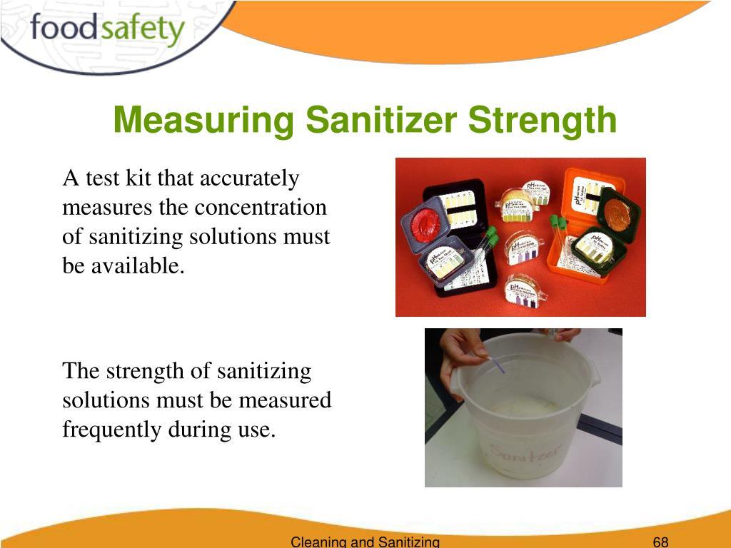 Measuring Sanitizer Strength
