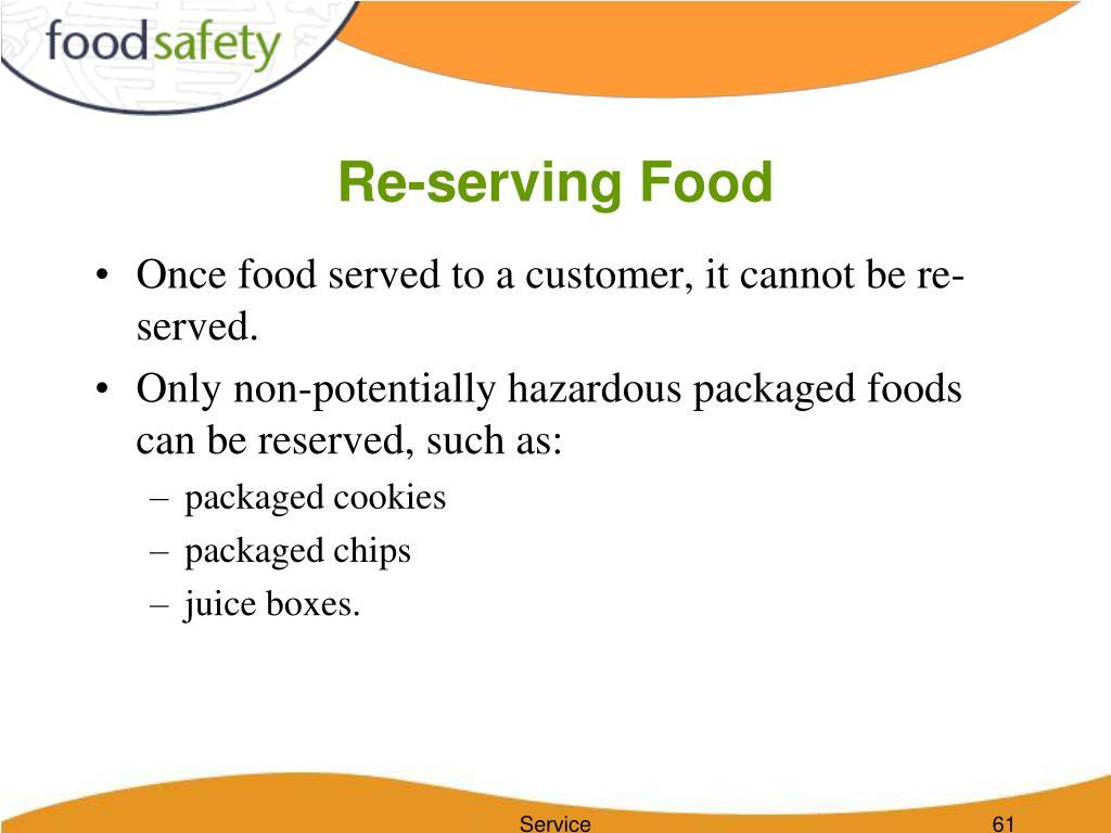 Re-serving Food