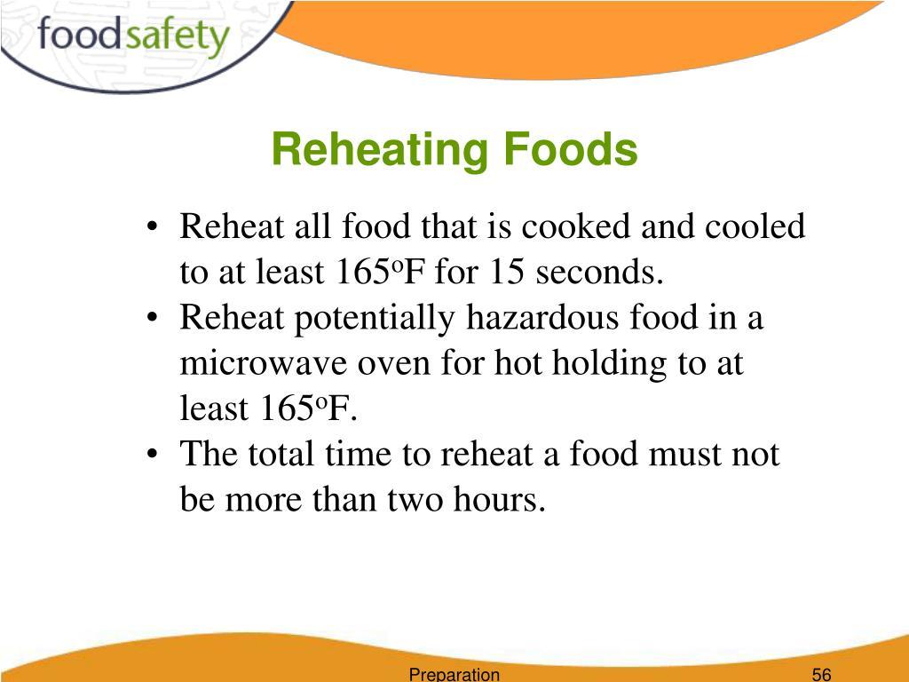 Reheating Foods