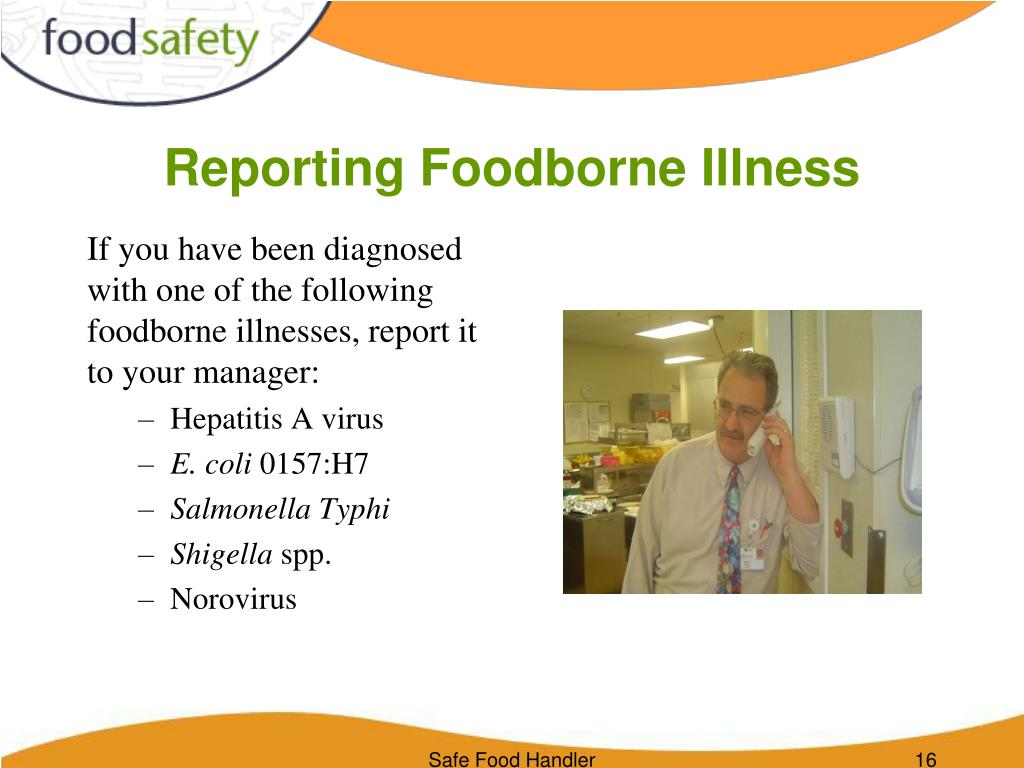 Reporting Foodborne Illness