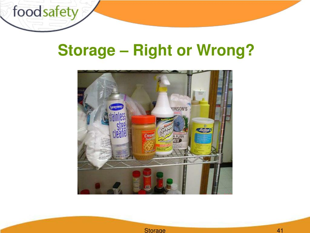 Storage – Right or Wrong?