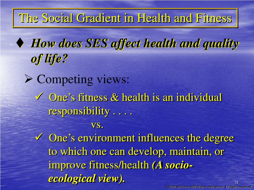 The Social Gradient in Health and Fitness