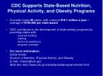 cdc supports state based nutrition physical activity and obesity programs