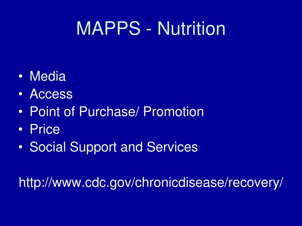 MAPPS - Nutrition