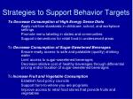 strategies to support behavior targets