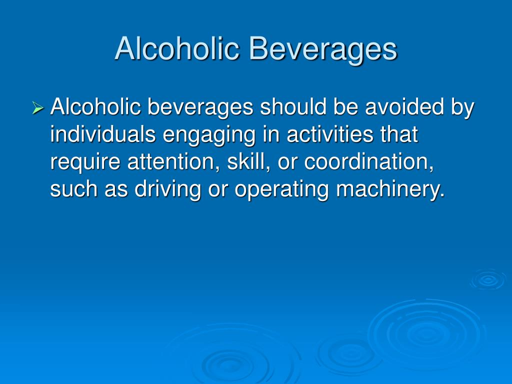 Alcoholic Beverages