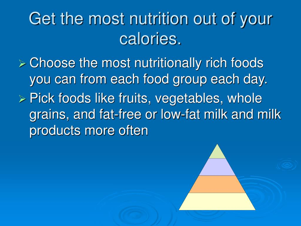 Get the most nutrition out of your calories.