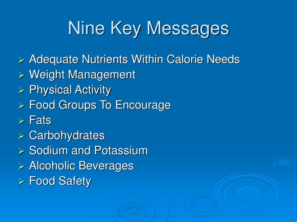 Nine Key Messages