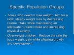 specific population groups10