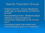 specific population groups11