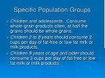 specific population groups18