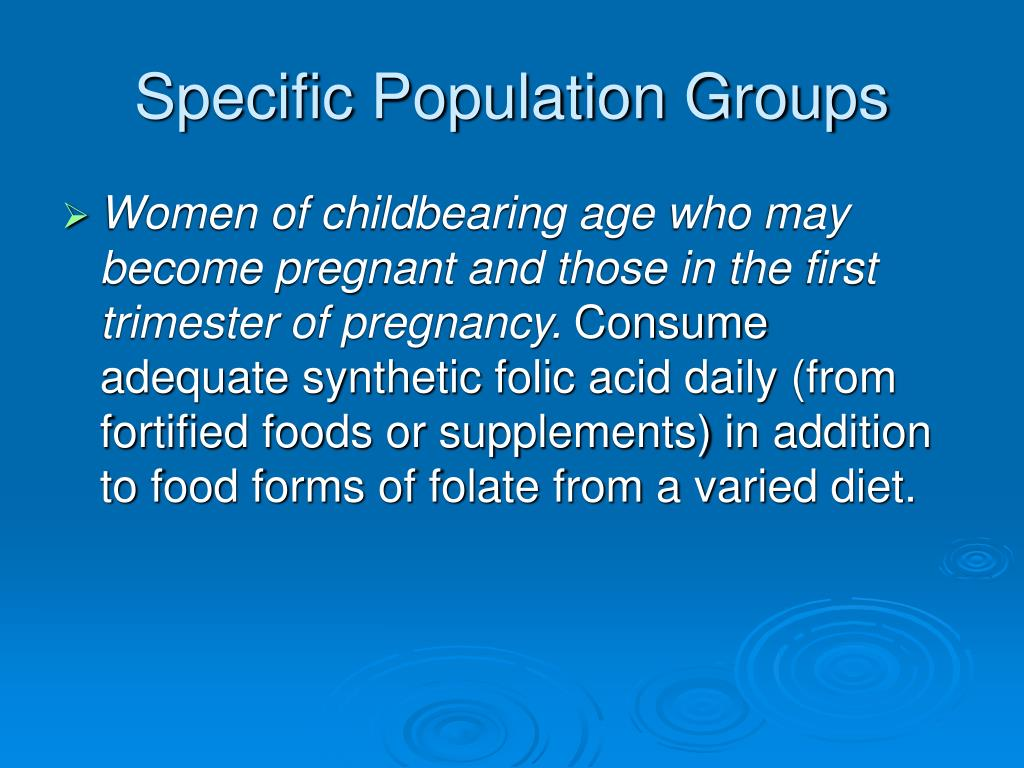 Specific Population Groups