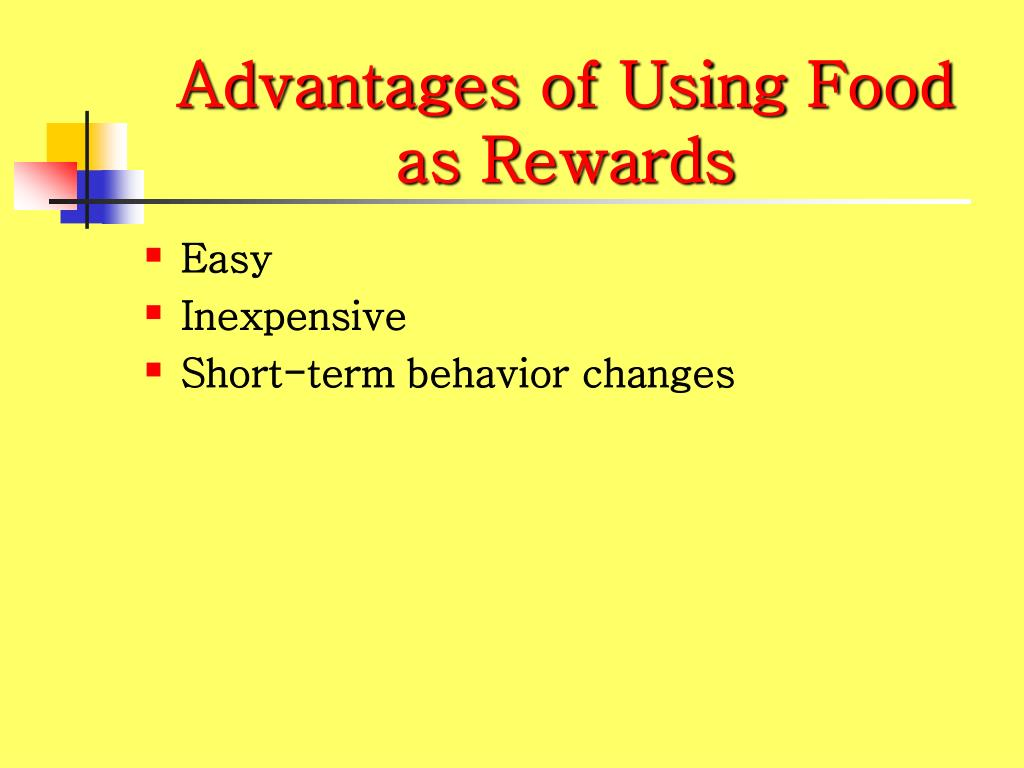 Advantages of Using Food as Rewards
