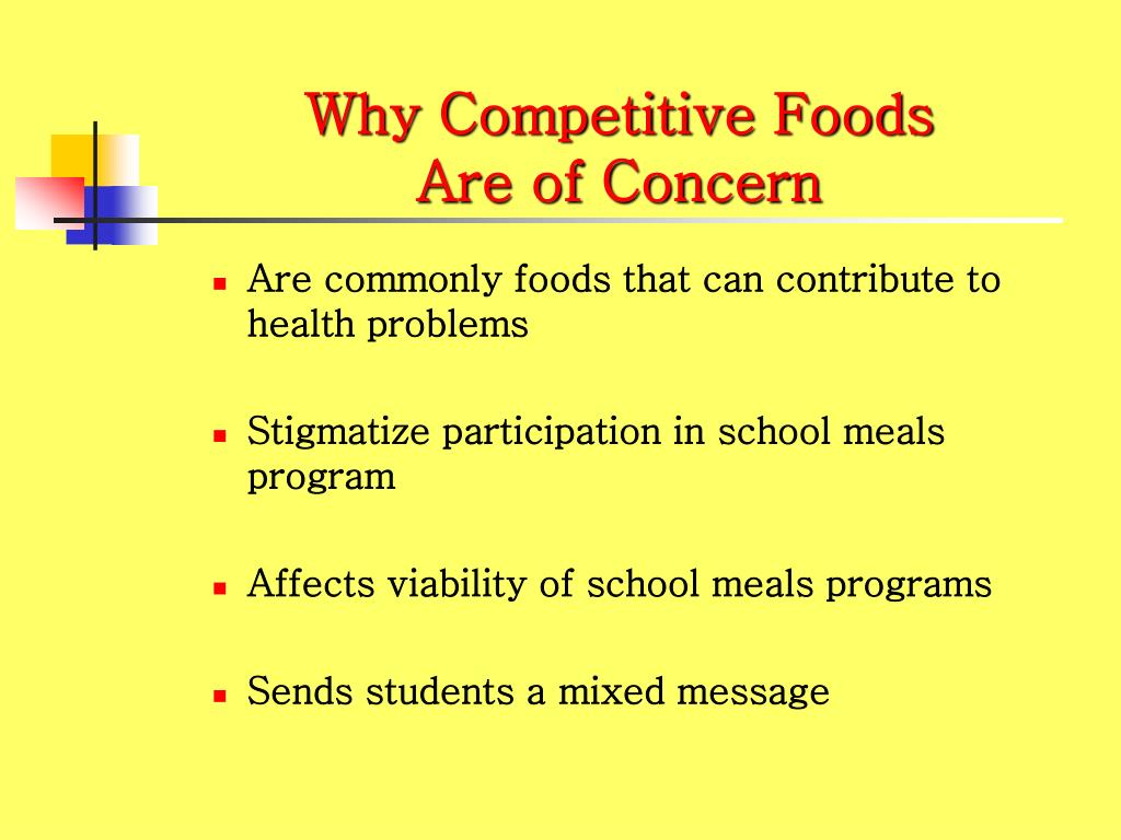 Why Competitive Foods