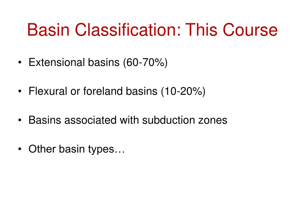 Basin Classification: This Course