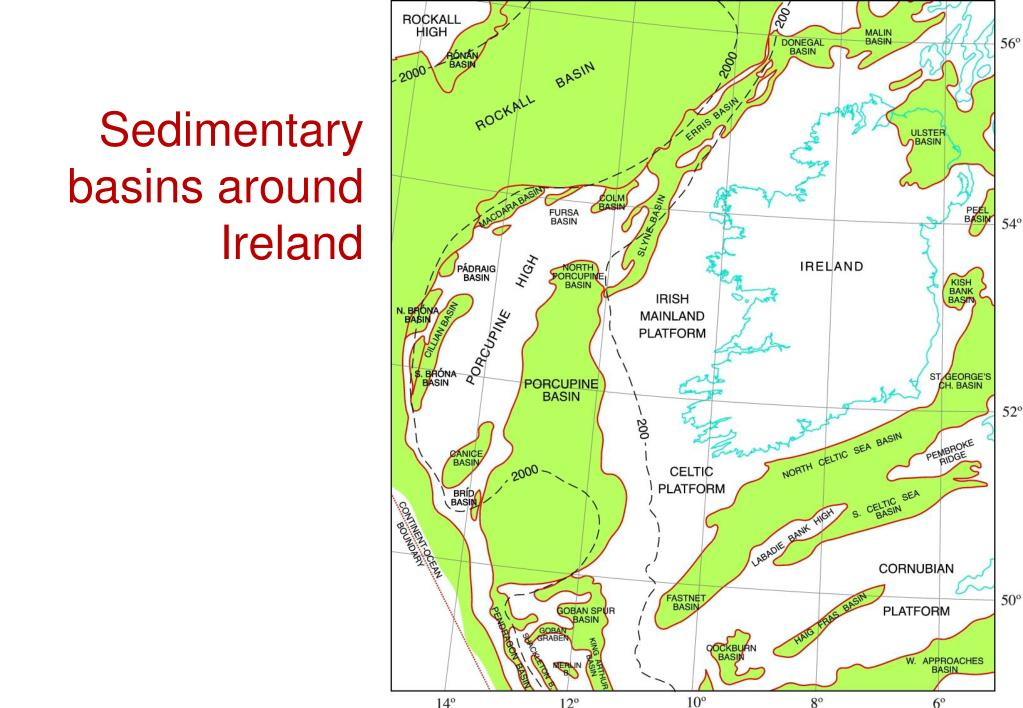 Sedimentary basins around Ireland
