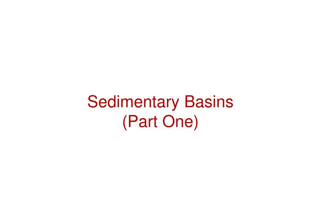 sedimentary basins part one