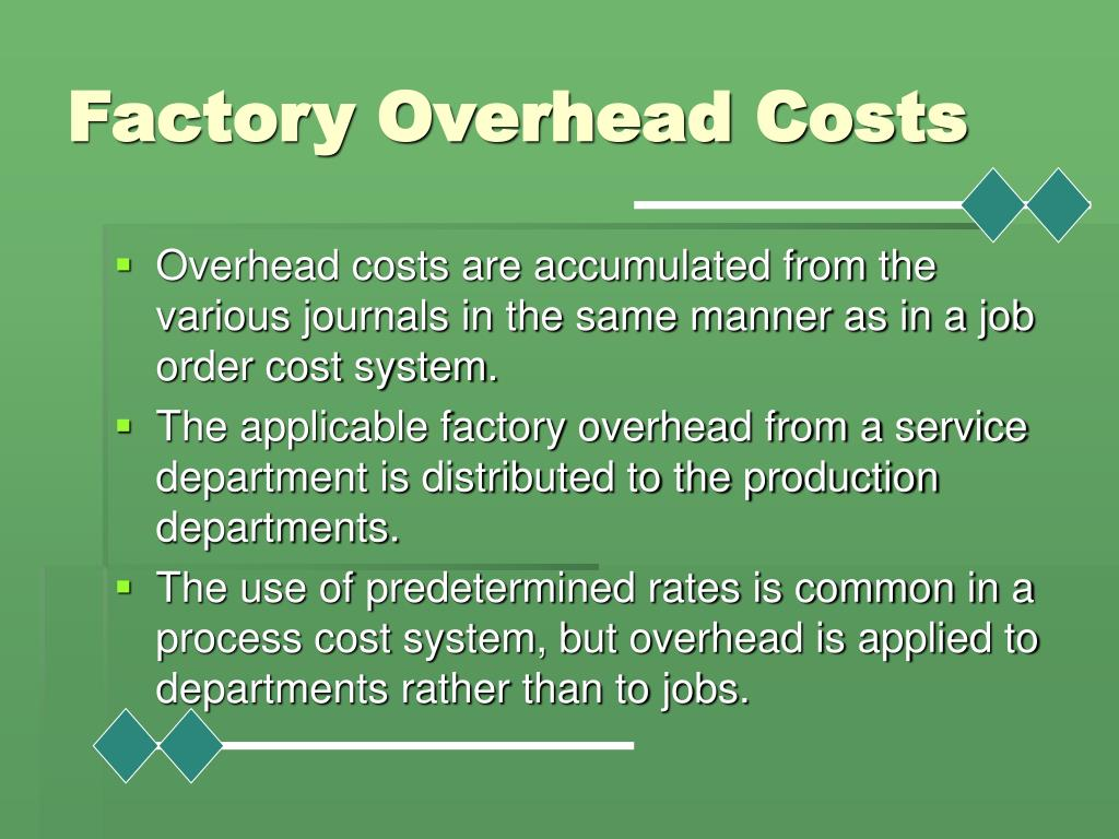 Factory Overhead Costs