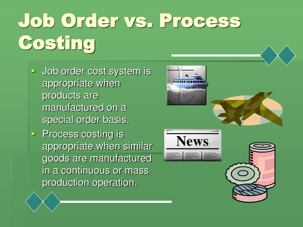 Job Order vs. Process Costing