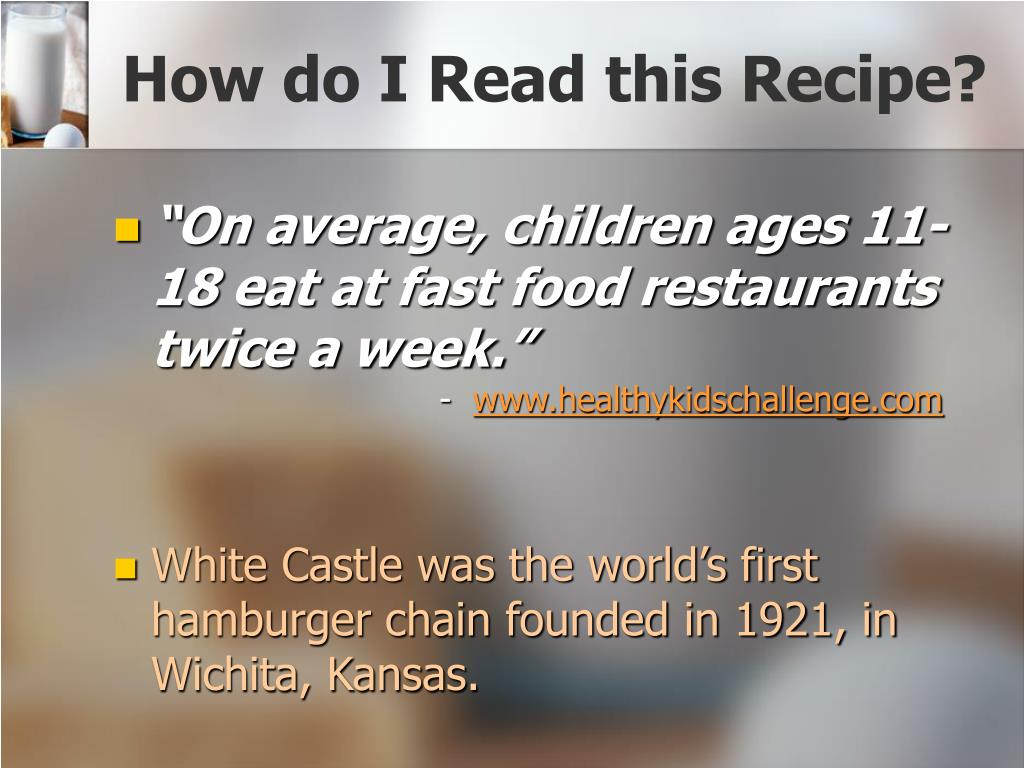 How do I Read this Recipe?