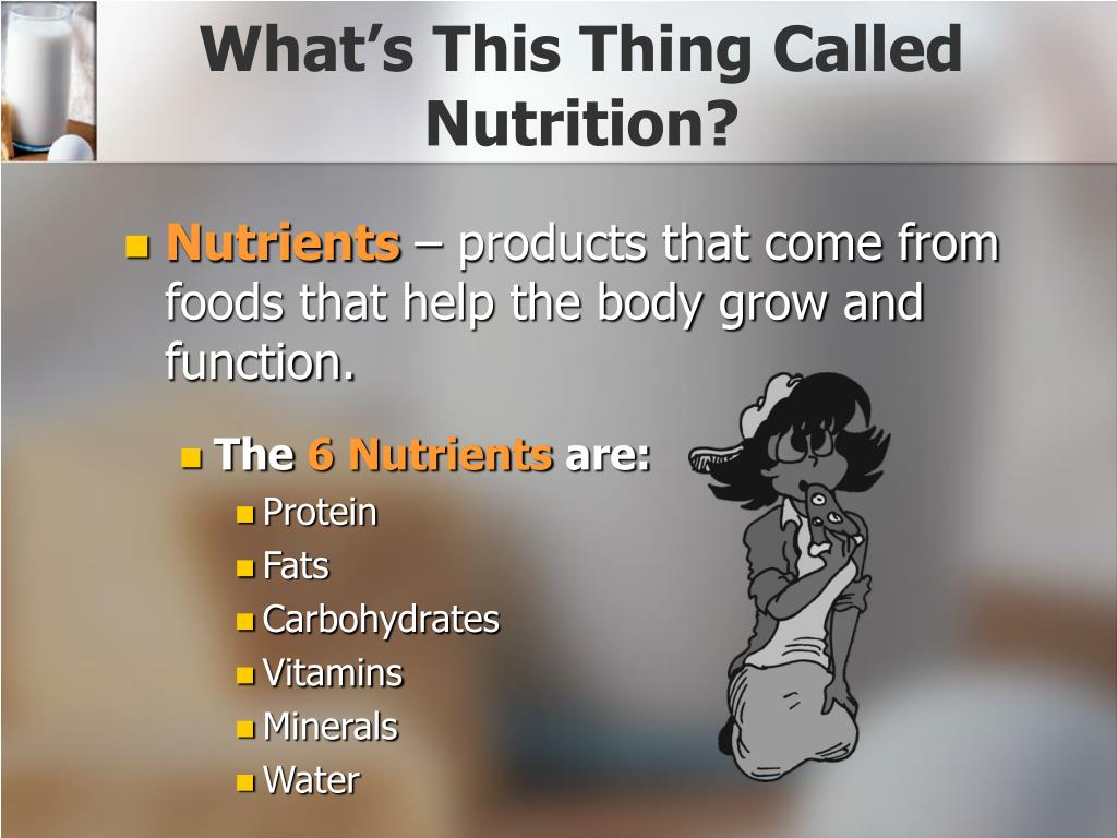 What's This Thing Called Nutrition?