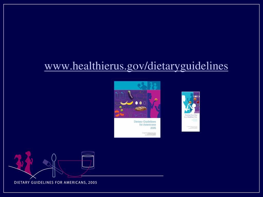 www.healthierus.gov/dietaryguidelines