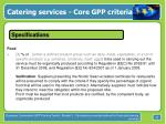 catering services core gpp criteria20