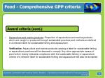food comprehensive gpp criteria15