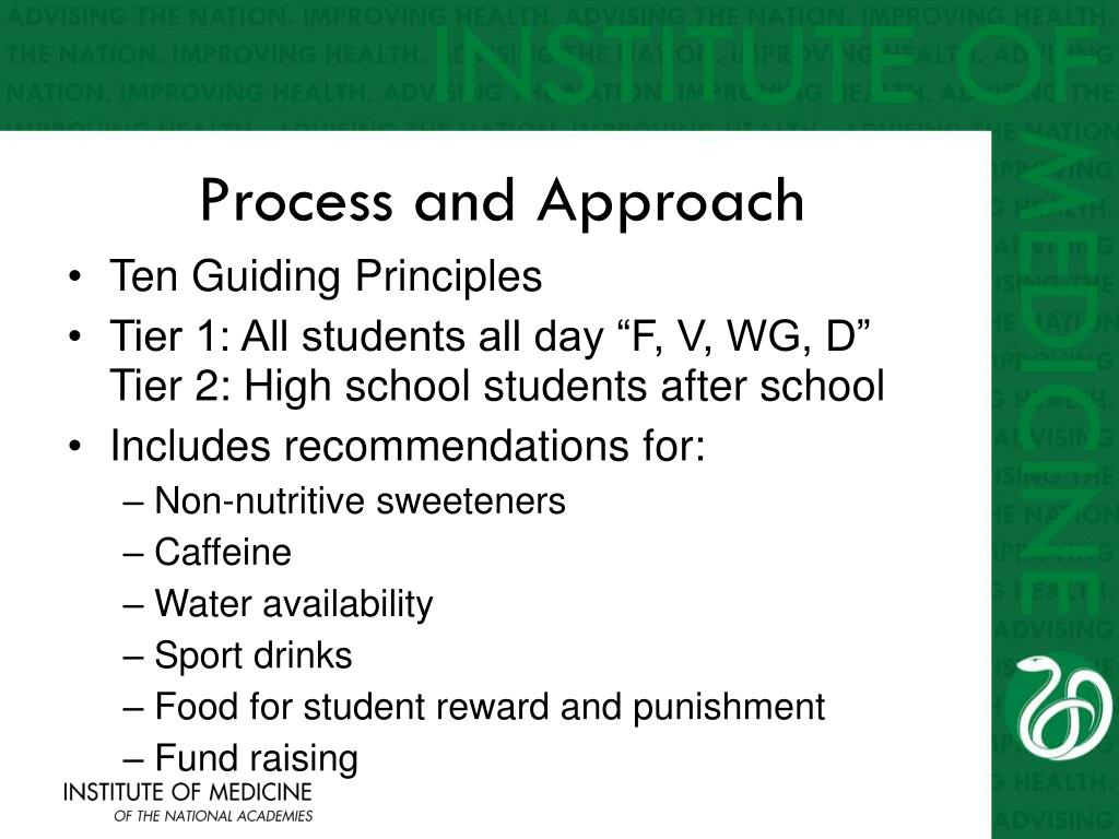 Process and Approach
