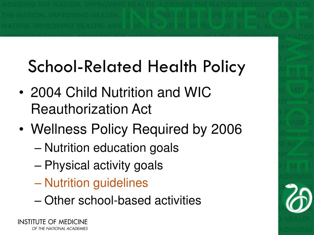 School-Related Health Policy