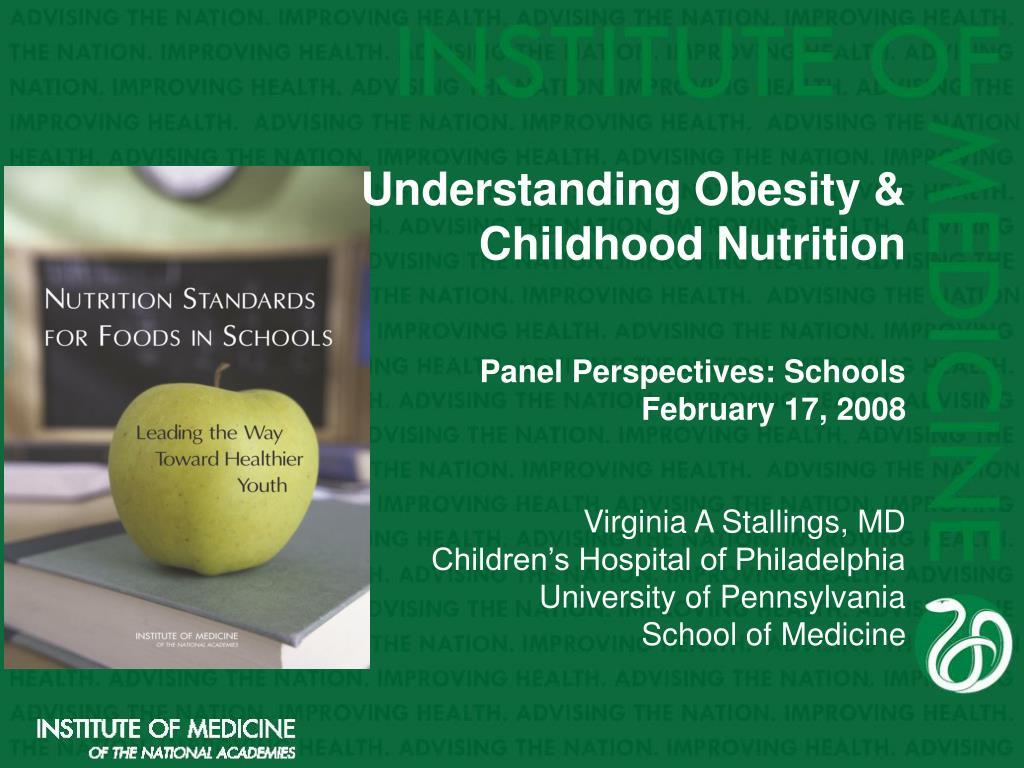 Understanding Obesity & Childhood Nutrition