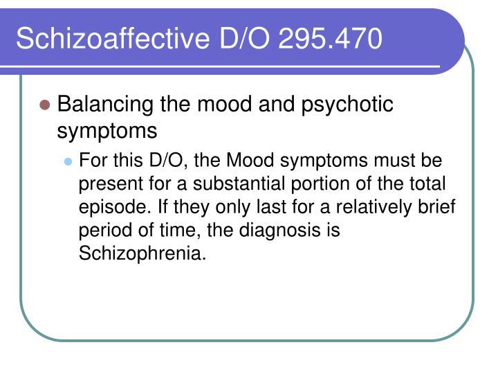 Schizoaffective D/O 295.470