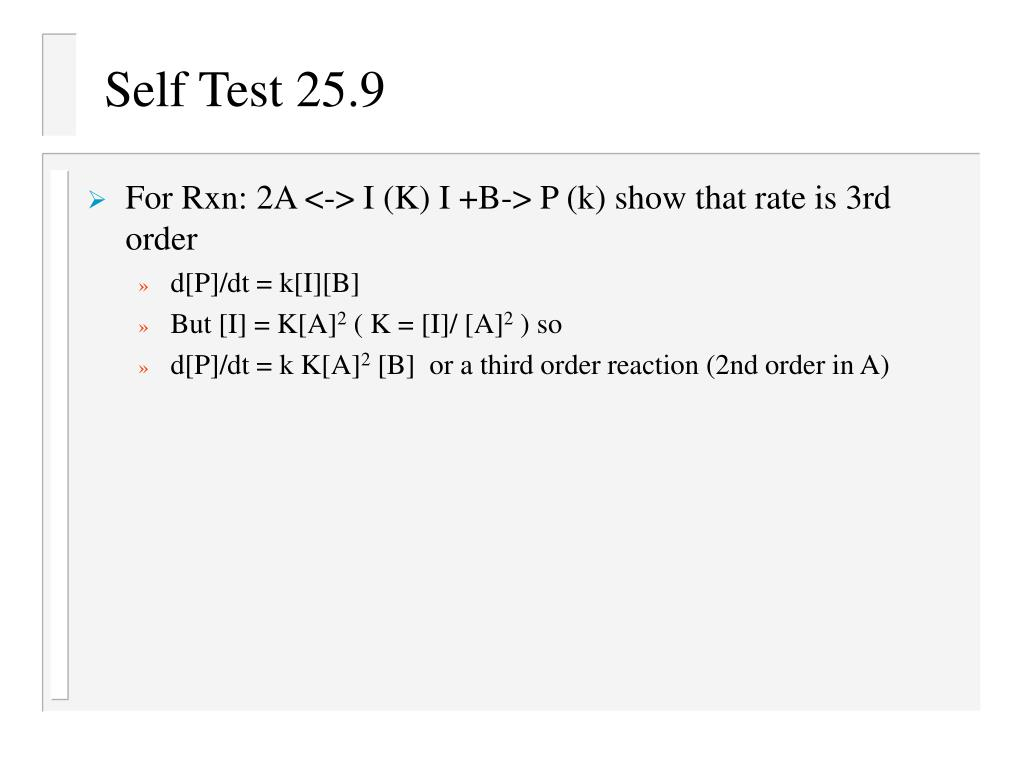 Self Test 25.9