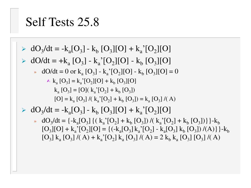 Self Tests 25.8
