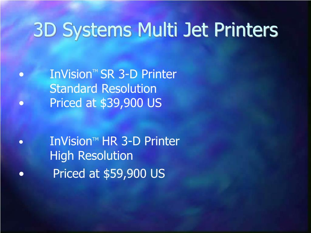 3D Systems Multi Jet Printers
