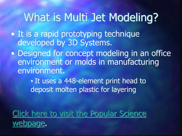 What is multi jet modeling
