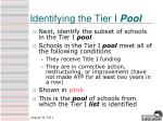 identifying the tier i pool