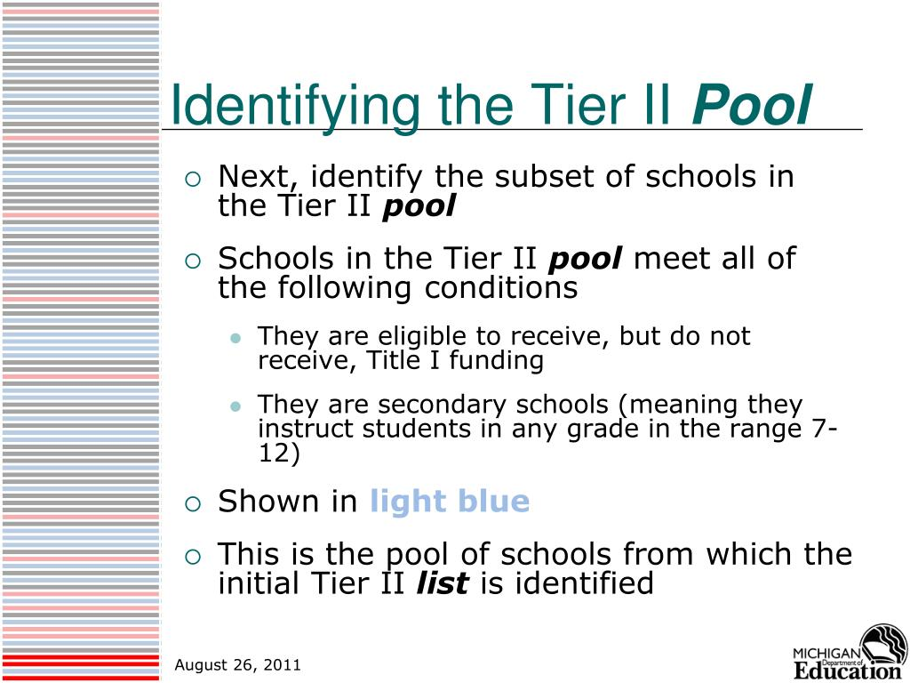 Identifying the Tier II