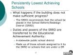persistently lowest achieving schools14