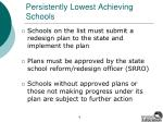 persistently lowest achieving schools6