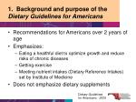 1 background and purpose of the dietary guidelines for americans8