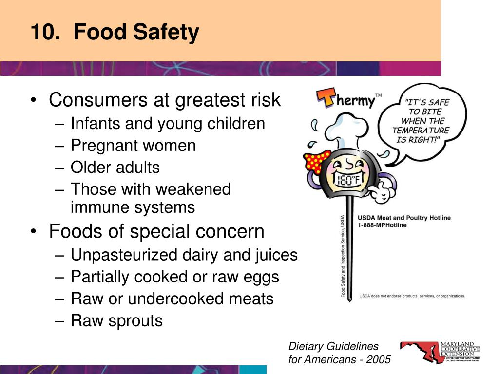 10.  Food Safety